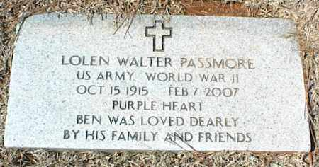 PASSMORE  (VETERAN WWII), LOLEN WALTER - Stone County, Arkansas | LOLEN WALTER PASSMORE  (VETERAN WWII) - Arkansas Gravestone Photos