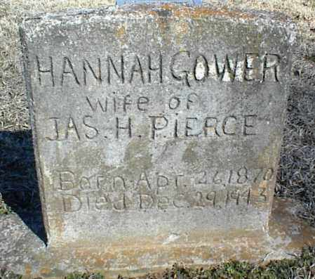 GOWER PIERCE, HANNAH - Stone County, Arkansas | HANNAH GOWER PIERCE - Arkansas Gravestone Photos