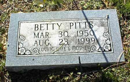 PITTS, BETTY - Stone County, Arkansas   BETTY PITTS - Arkansas Gravestone Photos