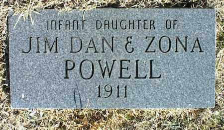 POWELL, INFANT DAUGHTER - Stone County, Arkansas | INFANT DAUGHTER POWELL - Arkansas Gravestone Photos