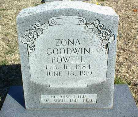 POWELL, ZONA - Stone County, Arkansas | ZONA POWELL - Arkansas Gravestone Photos