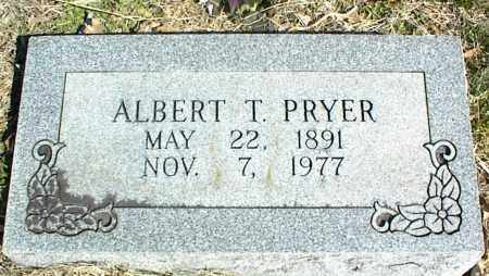 PRYER, ALBERT T. - Stone County, Arkansas | ALBERT T. PRYER - Arkansas Gravestone Photos