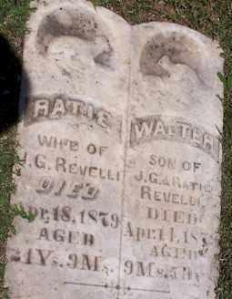 REVELLI, WALTER - Stone County, Arkansas | WALTER REVELLI - Arkansas Gravestone Photos