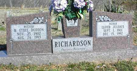 RICHARDSON, LLOYD JULIOUS - Stone County, Arkansas | LLOYD JULIOUS RICHARDSON - Arkansas Gravestone Photos