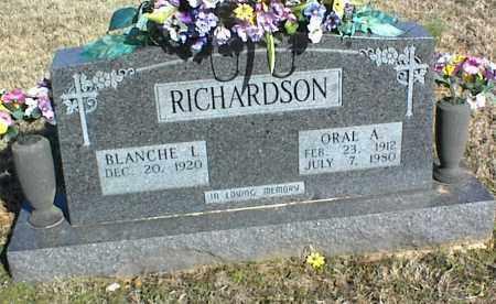 RICHARDSON, ORAL A. - Stone County, Arkansas | ORAL A. RICHARDSON - Arkansas Gravestone Photos