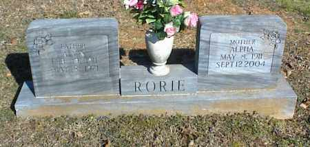 RORIE, ALVIN - Stone County, Arkansas | ALVIN RORIE - Arkansas Gravestone Photos