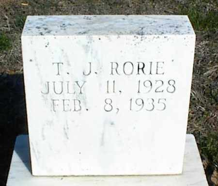 RORIE, T. J. - Stone County, Arkansas | T. J. RORIE - Arkansas Gravestone Photos