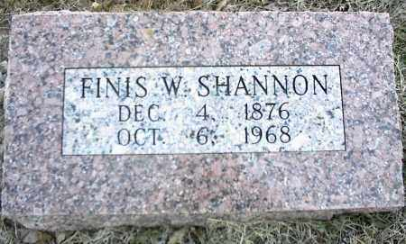 SHANNON, FINIS W. - Stone County, Arkansas | FINIS W. SHANNON - Arkansas Gravestone Photos