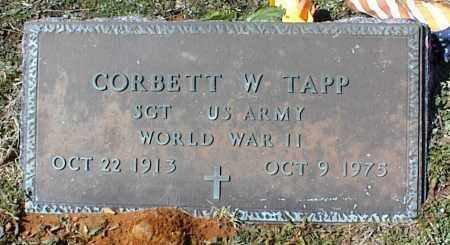 TAPP  (VETERAN WWII), CORBETT W - Stone County, Arkansas | CORBETT W TAPP  (VETERAN WWII) - Arkansas Gravestone Photos