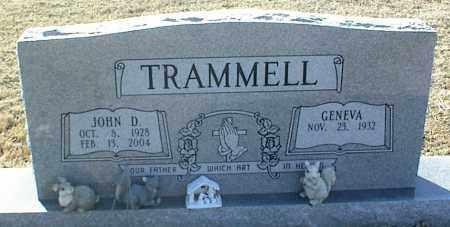 TRAMMELL, JOHN D. - Stone County, Arkansas | JOHN D. TRAMMELL - Arkansas Gravestone Photos
