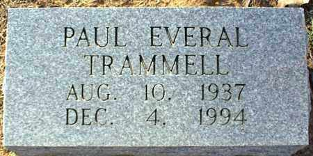 TRAMMELL, PAUL EVERAL - Stone County, Arkansas | PAUL EVERAL TRAMMELL - Arkansas Gravestone Photos