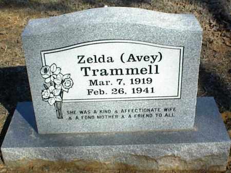 AVEY TRAMMELL, ZELDA - Stone County, Arkansas | ZELDA AVEY TRAMMELL - Arkansas Gravestone Photos