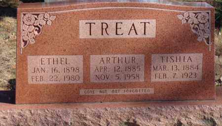 LAWRENCE TREAT, MARY LUTISHA - Stone County, Arkansas | MARY LUTISHA LAWRENCE TREAT - Arkansas Gravestone Photos