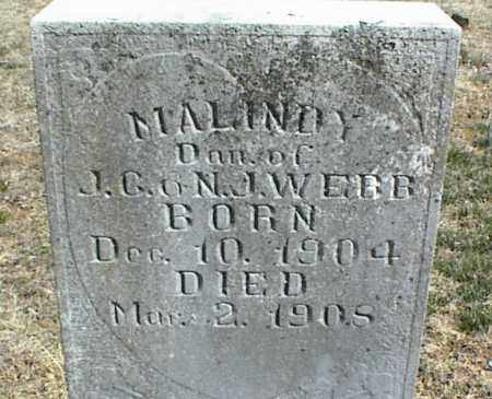 WEBB, MALINDY - Stone County, Arkansas | MALINDY WEBB - Arkansas Gravestone Photos