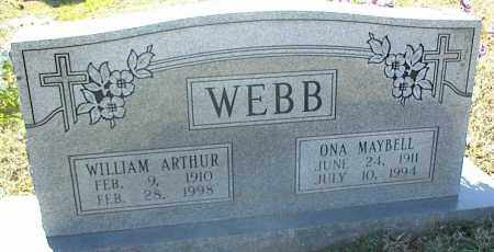 WEBB, ONA MAYBELL - Stone County, Arkansas | ONA MAYBELL WEBB - Arkansas Gravestone Photos