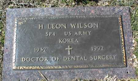 WILSON  (VETERAN KOR), H. LEON - Stone County, Arkansas | H. LEON WILSON  (VETERAN KOR) - Arkansas Gravestone Photos