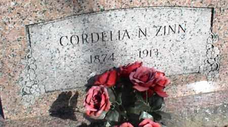 ZINN, CORDELIA N. - Stone County, Arkansas | CORDELIA N. ZINN - Arkansas Gravestone Photos