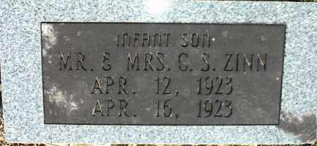ZINN, INFANT SON - Stone County, Arkansas | INFANT SON ZINN - Arkansas Gravestone Photos