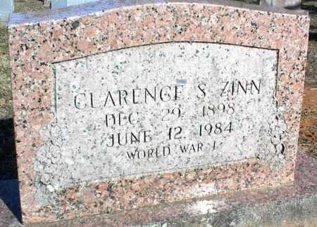 ZINN (VETERAN WWI), CLARENCE S - Stone County, Arkansas | CLARENCE S ZINN (VETERAN WWI) - Arkansas Gravestone Photos