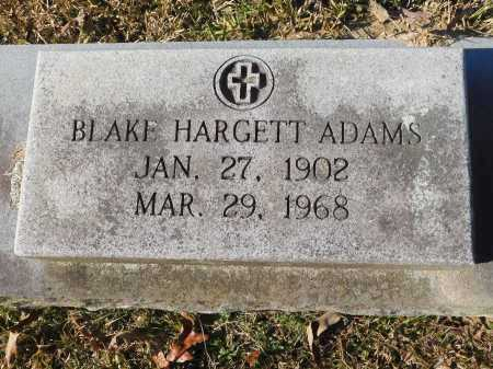 HARGETT ADAMS, BLAKE - Union County, Arkansas | BLAKE HARGETT ADAMS - Arkansas Gravestone Photos