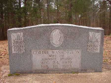 WASHINGTON ADAMS, CORINE - Union County, Arkansas | CORINE WASHINGTON ADAMS - Arkansas Gravestone Photos