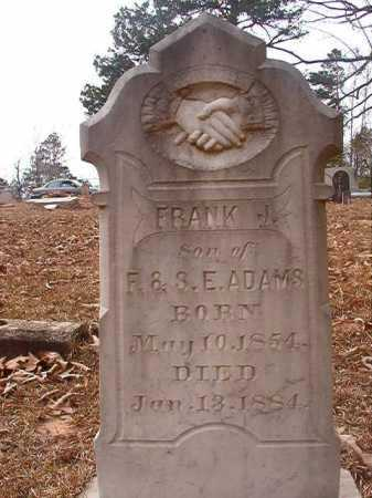 ADAMS, FRANK J - Union County, Arkansas | FRANK J ADAMS - Arkansas Gravestone Photos