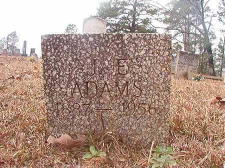 ADAMS, J E - Union County, Arkansas | J E ADAMS - Arkansas Gravestone Photos