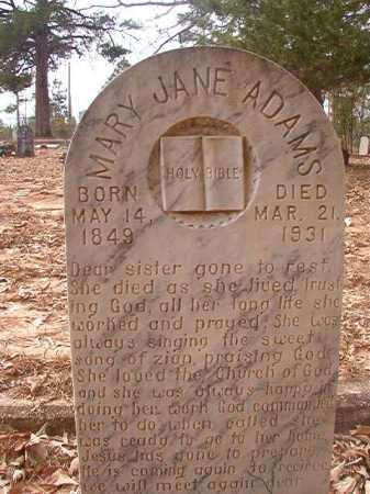 ADAMS, MARY JANE - Union County, Arkansas | MARY JANE ADAMS - Arkansas Gravestone Photos