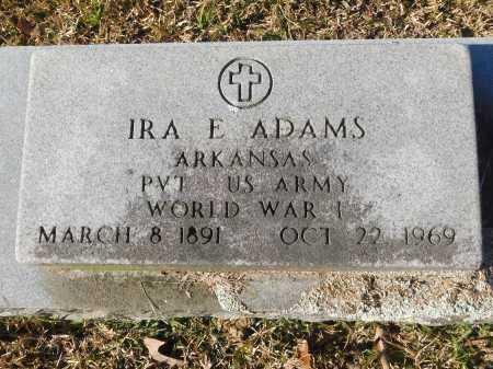ADAMS (VETERAN WWI), IRA E - Union County, Arkansas | IRA E ADAMS (VETERAN WWI) - Arkansas Gravestone Photos