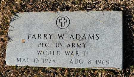 ADAMS (VETERAN WWII), FARRY W - Union County, Arkansas | FARRY W ADAMS (VETERAN WWII) - Arkansas Gravestone Photos