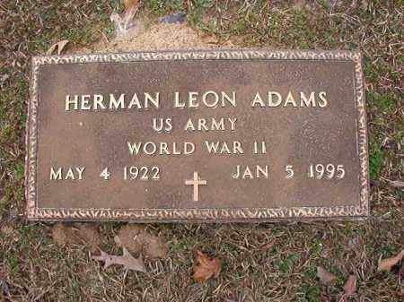 ADAMS (VETERAN WWII), HERMAN LEON - Union County, Arkansas | HERMAN LEON ADAMS (VETERAN WWII) - Arkansas Gravestone Photos