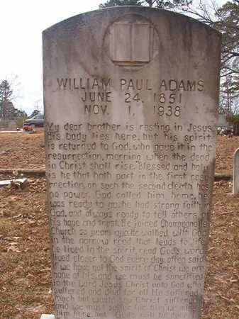 ADAMS, WILLIAM PAUL - Union County, Arkansas | WILLIAM PAUL ADAMS - Arkansas Gravestone Photos