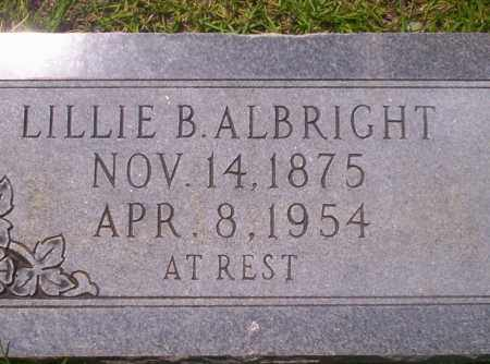 ALBRIGHT, LILLIE B - Union County, Arkansas | LILLIE B ALBRIGHT - Arkansas Gravestone Photos