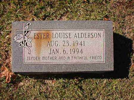 ALDERSON, ESTER LOUISE - Union County, Arkansas | ESTER LOUISE ALDERSON - Arkansas Gravestone Photos