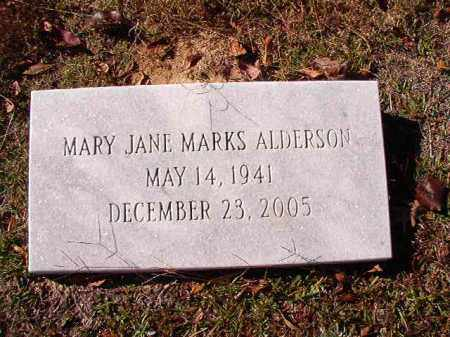 MARKS ALDERSON, MARY JANE - Union County, Arkansas | MARY JANE MARKS ALDERSON - Arkansas Gravestone Photos