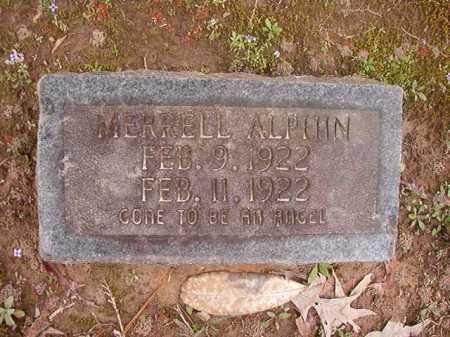 ALPHIN, MERRELL - Union County, Arkansas | MERRELL ALPHIN - Arkansas Gravestone Photos