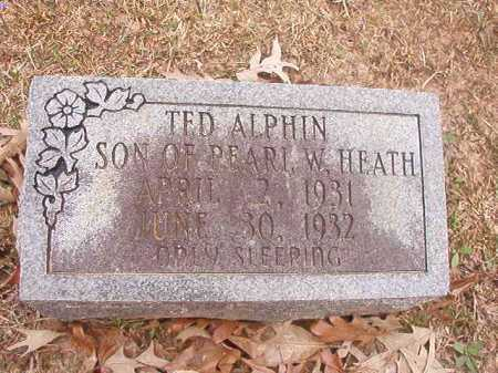 ALPHIN, TED - Union County, Arkansas | TED ALPHIN - Arkansas Gravestone Photos