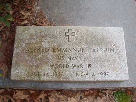 ALPHIN (VETERAN WWII), ALFRED EMMANUEL - Union County, Arkansas | ALFRED EMMANUEL ALPHIN (VETERAN WWII) - Arkansas Gravestone Photos