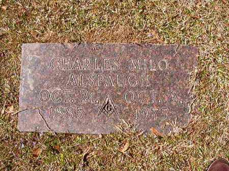 ALSPAUGH, CHARLES MILO - Union County, Arkansas | CHARLES MILO ALSPAUGH - Arkansas Gravestone Photos