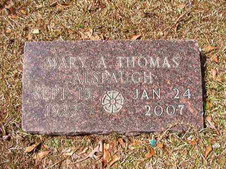 THOMAS ALSPAUGH, MARY A - Union County, Arkansas | MARY A THOMAS ALSPAUGH - Arkansas Gravestone Photos