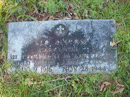 ALSTON (VETERAN WWII), LEO - Union County, Arkansas | LEO ALSTON (VETERAN WWII) - Arkansas Gravestone Photos