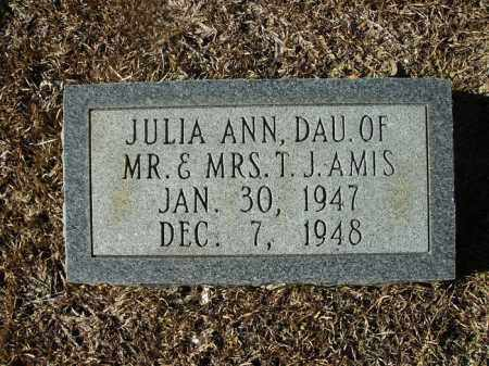 AMIS, JULIA ANN - Union County, Arkansas | JULIA ANN AMIS - Arkansas Gravestone Photos