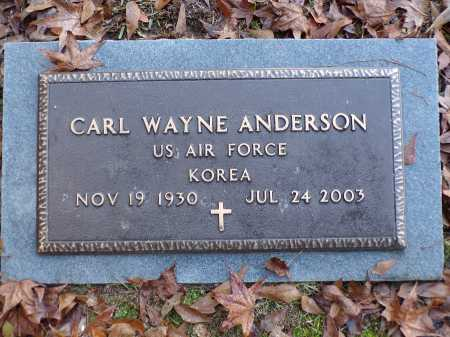 ANDERSON (VETERAN KOR), CARL WAYNE - Union County, Arkansas | CARL WAYNE ANDERSON (VETERAN KOR) - Arkansas Gravestone Photos