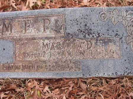 ARMER, MARTHA D - Union County, Arkansas | MARTHA D ARMER - Arkansas Gravestone Photos