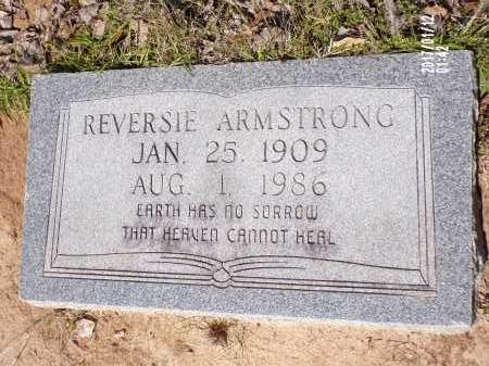 ARMSTRONG, REVERSIE - Union County, Arkansas | REVERSIE ARMSTRONG - Arkansas Gravestone Photos