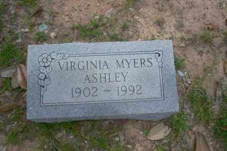 MYERS ASHLEY, VIRGINIA - Union County, Arkansas | VIRGINIA MYERS ASHLEY - Arkansas Gravestone Photos