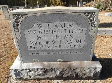 AXUM, WILLIAM THOMAS - Union County, Arkansas | WILLIAM THOMAS AXUM - Arkansas Gravestone Photos