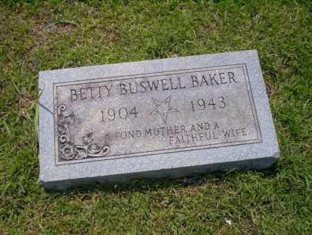 BUSWELL BAKER, BETTY - Union County, Arkansas | BETTY BUSWELL BAKER - Arkansas Gravestone Photos