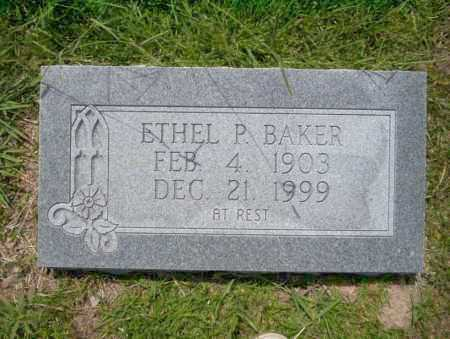 BAKER, ETHEL P - Union County, Arkansas | ETHEL P BAKER - Arkansas Gravestone Photos
