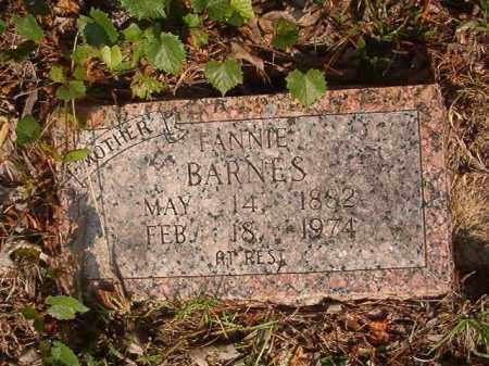 BARNES, FANNIE - Union County, Arkansas | FANNIE BARNES - Arkansas Gravestone Photos